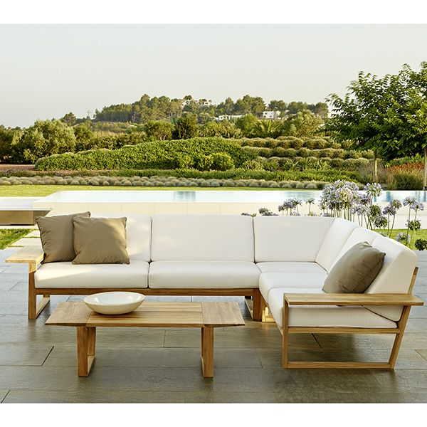 Point Lineal Sectional Sofa Outdoor Teak Lounge