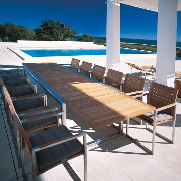 Royal Botania, Ninix, Teak, Extension, Outdoor, Dining, Table - Home ...