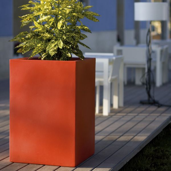 Tall Square Large Outdoor Garden Planter Homeinfatuation