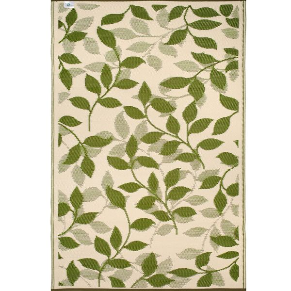Green cream plastic outdoor rug patio rug indoor for Green and cream rugs