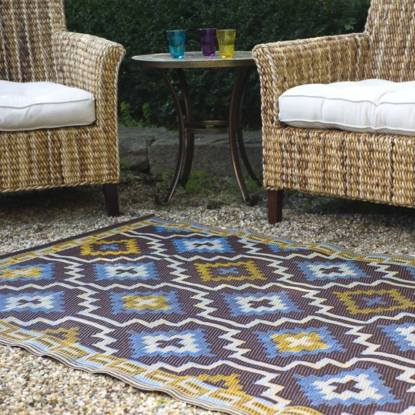blue chocolate plastic outdoor rug patio rug indoor. Black Bedroom Furniture Sets. Home Design Ideas