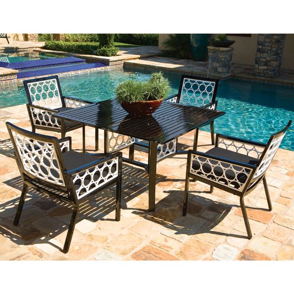 parkplace aluminum modern outdoor dining table at