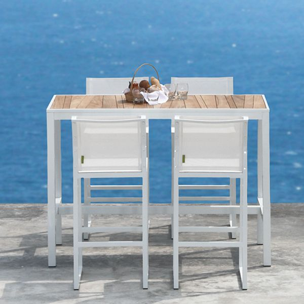 Mamagreen Allux Teak Outdoor Bistro Table, Bar height table -  HomeInfatuation.com. - - Outdoor Bar Height Table And Chairs Our Designs