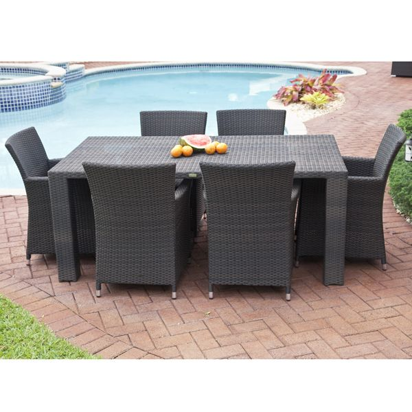 St Tropez Source Outdoor Dining Table Wicker Homeinfatuation