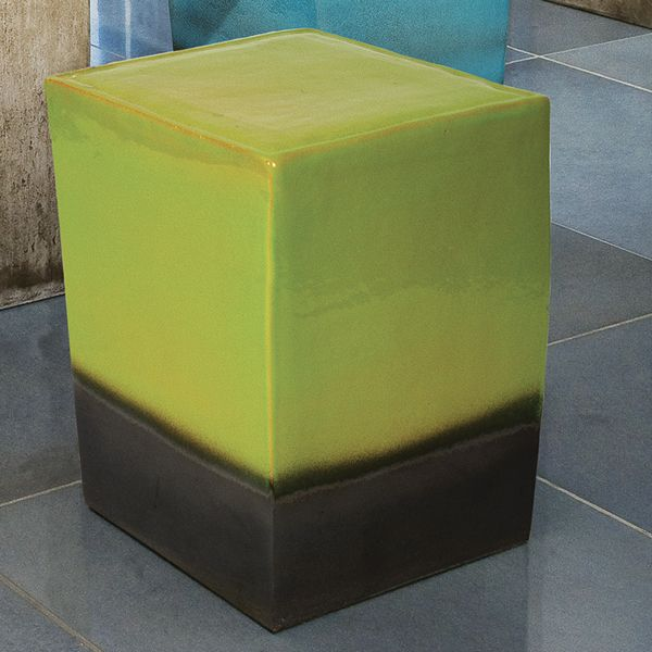 Seasonal Living Square Ceramic Garden Stool And Table