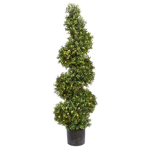 Artificial Outdoor Boxwood Spiral Lights Led