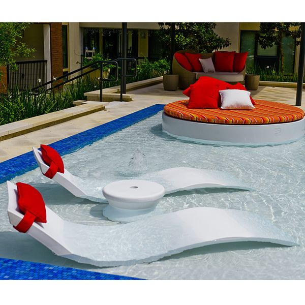 Chaise lounge ledge lounger outdoor lounges pool for Garden pool loungers