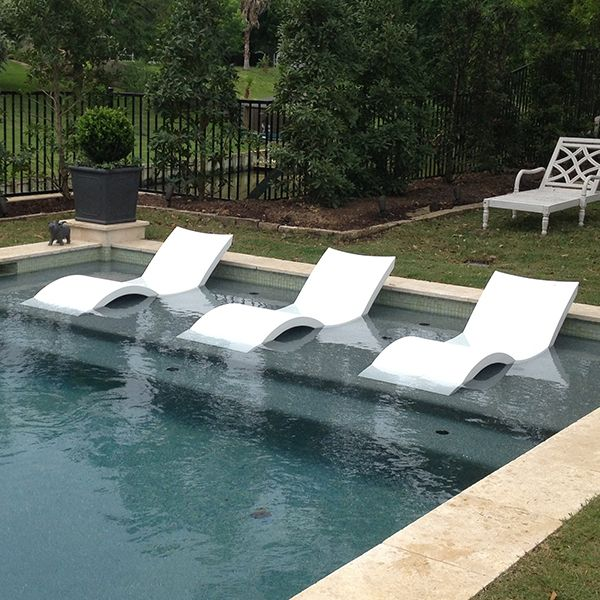 Chaise lounge ledge lounger outdoor lounges pool for Pool deck chairs for sale