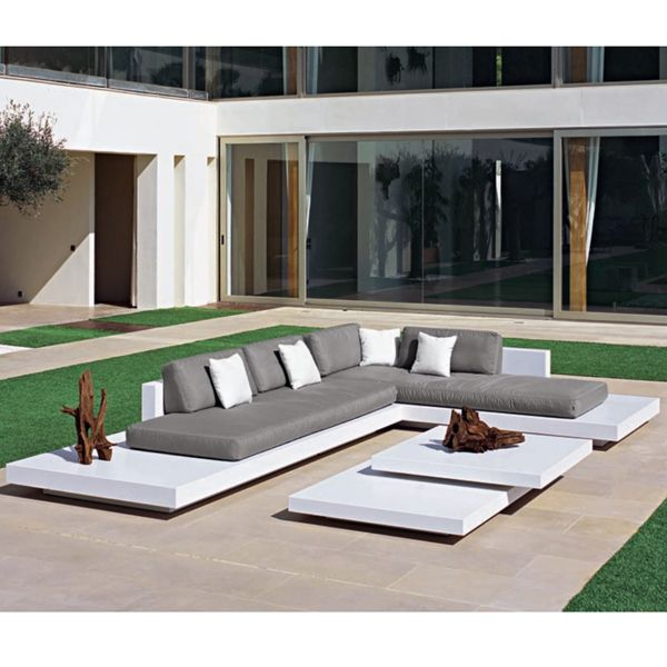 Rausch platform sectional outdoor sofa for Outdoor furniture europe